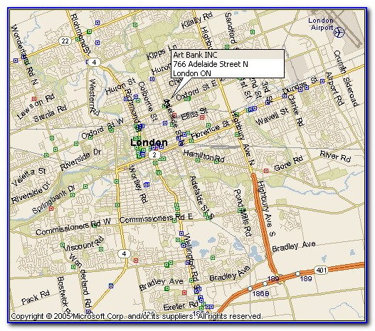 Map Of London Ontario Hotels