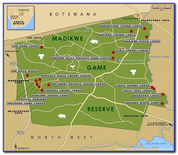 Map Of Madikwe Game Reserve