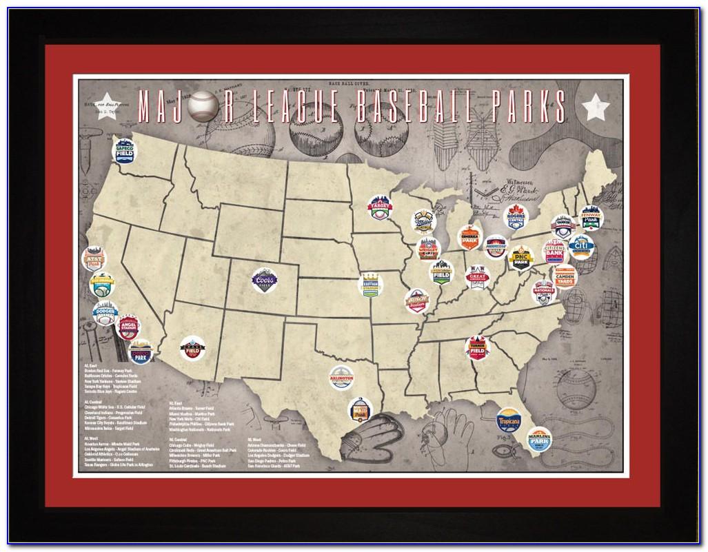 Map Of Major League Baseball Stadiums
