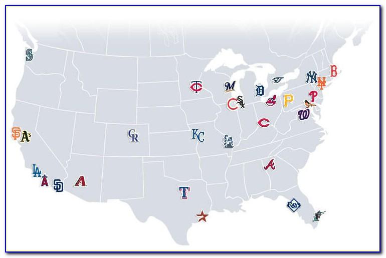 Map Of Major League Stadiums