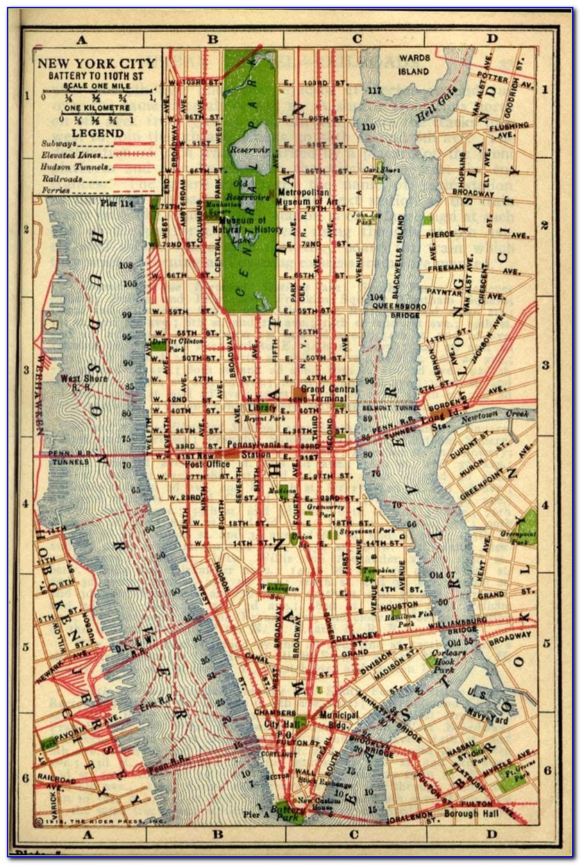 Map Of Manhattan Nyc Streets
