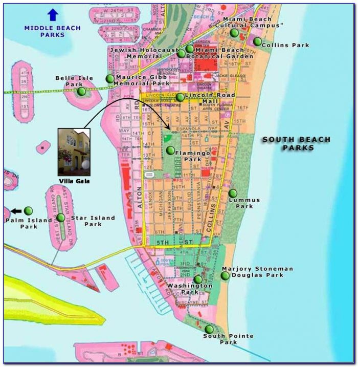 Map Of Miami South Beach Hotels