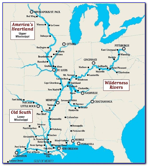 Map Of Mississippi River Route