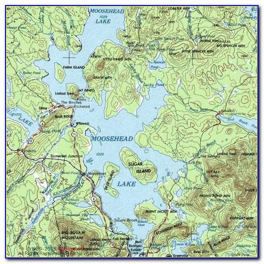 Map Of Moosehead Lake Maine
