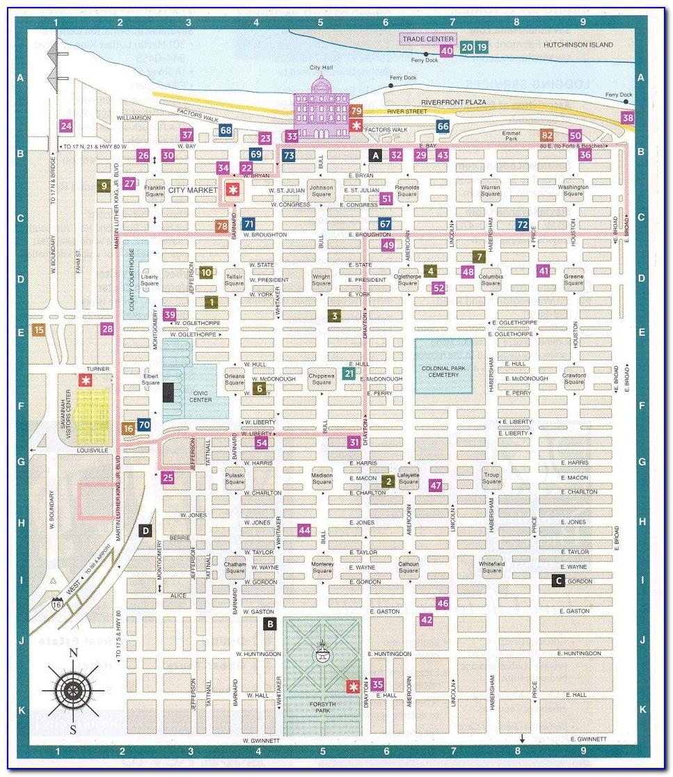 Map Of Motels In Savannah Ga