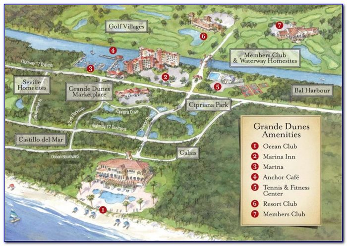 Map Of Myrtle Beach Golf Course Locations
