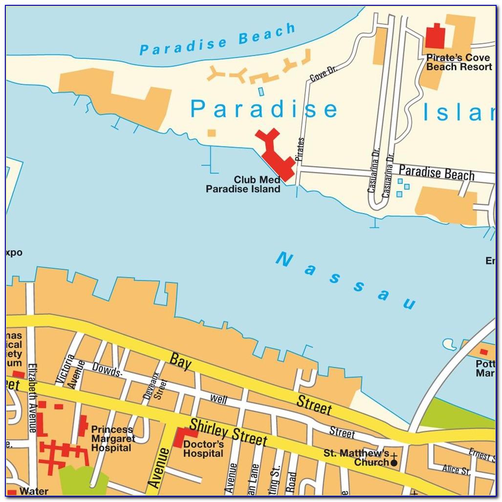 Map Of Nassau Bahamas And Paradise Island
