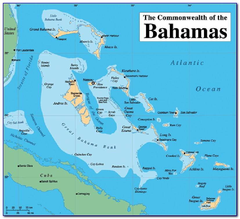 Map Of Nassau Bahamas Atlantis