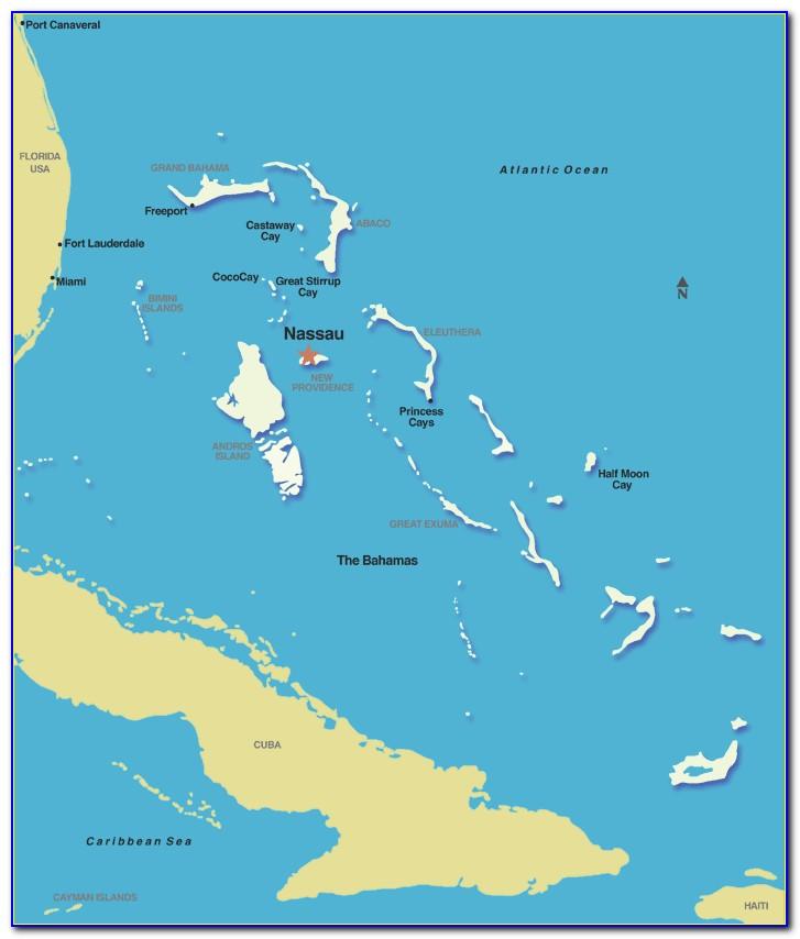 Map Of Nassau Bahamas Junkanoo Beach