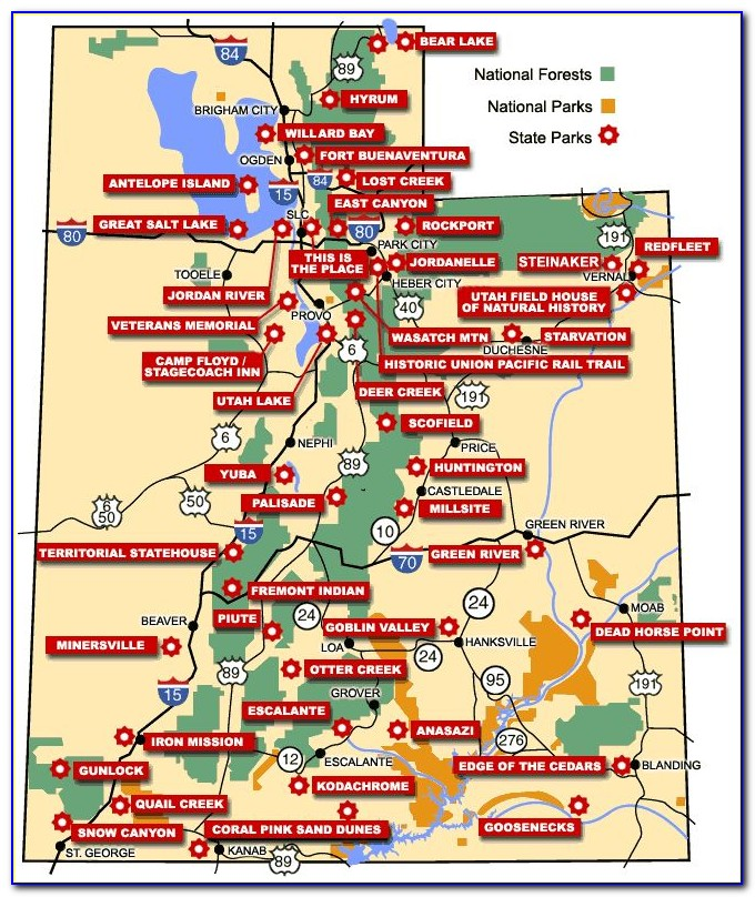 Map Of National Parks And Monuments In Colorado