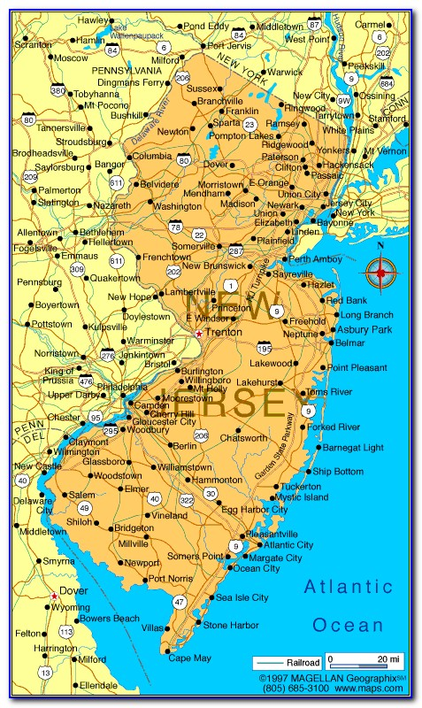 Map Of New Jersey Counties And Townships