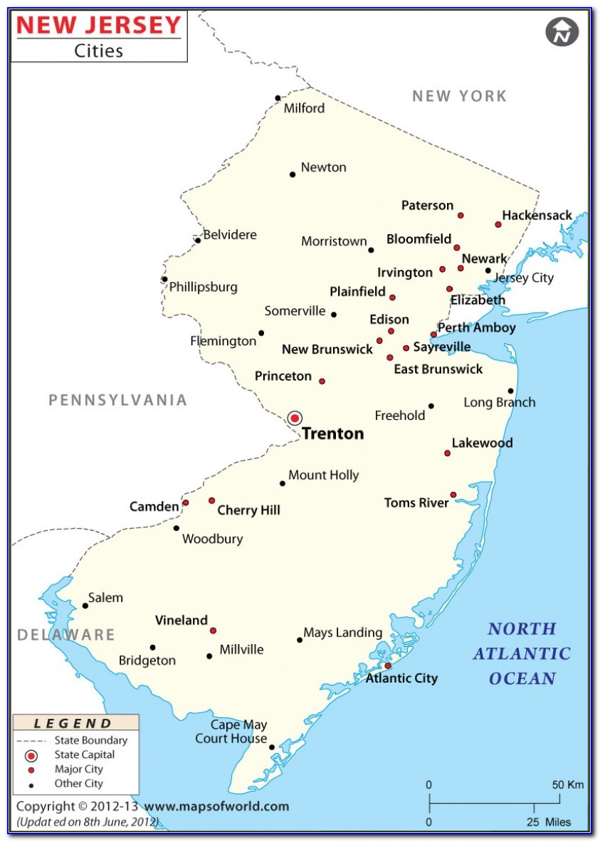Map Of New Jersey Townships