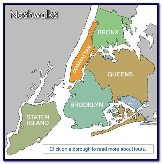 Map Of New York City 5 Boroughs