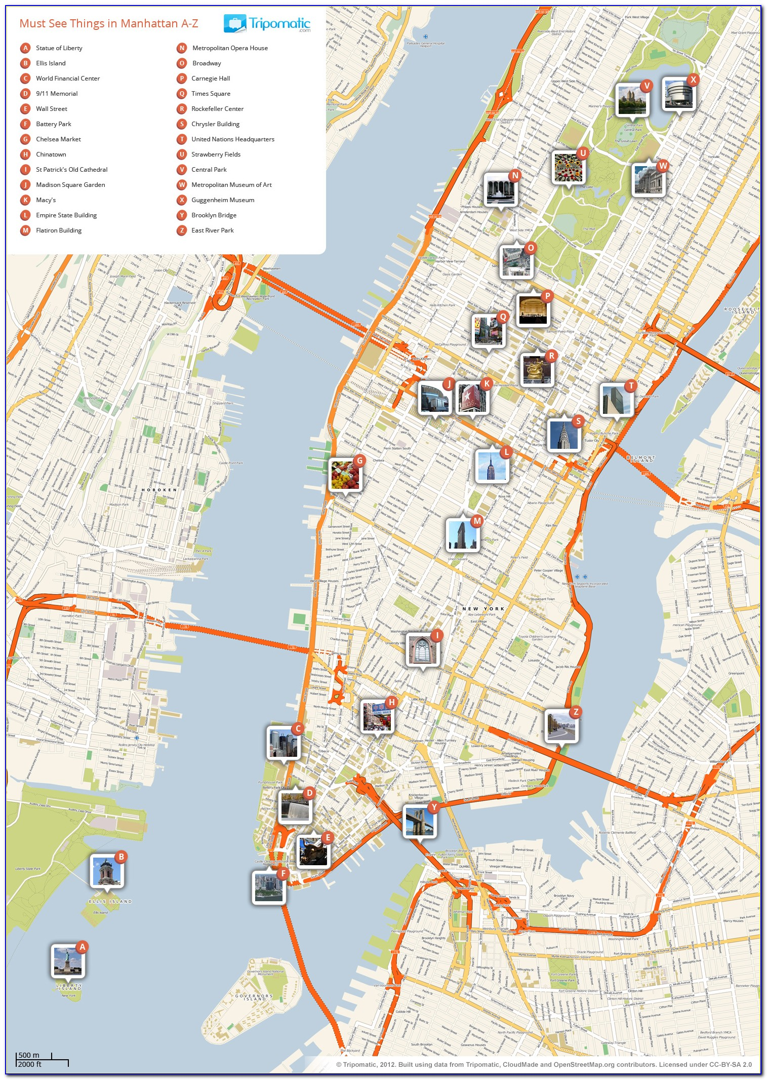 Map Of New York City Attractions Pdf