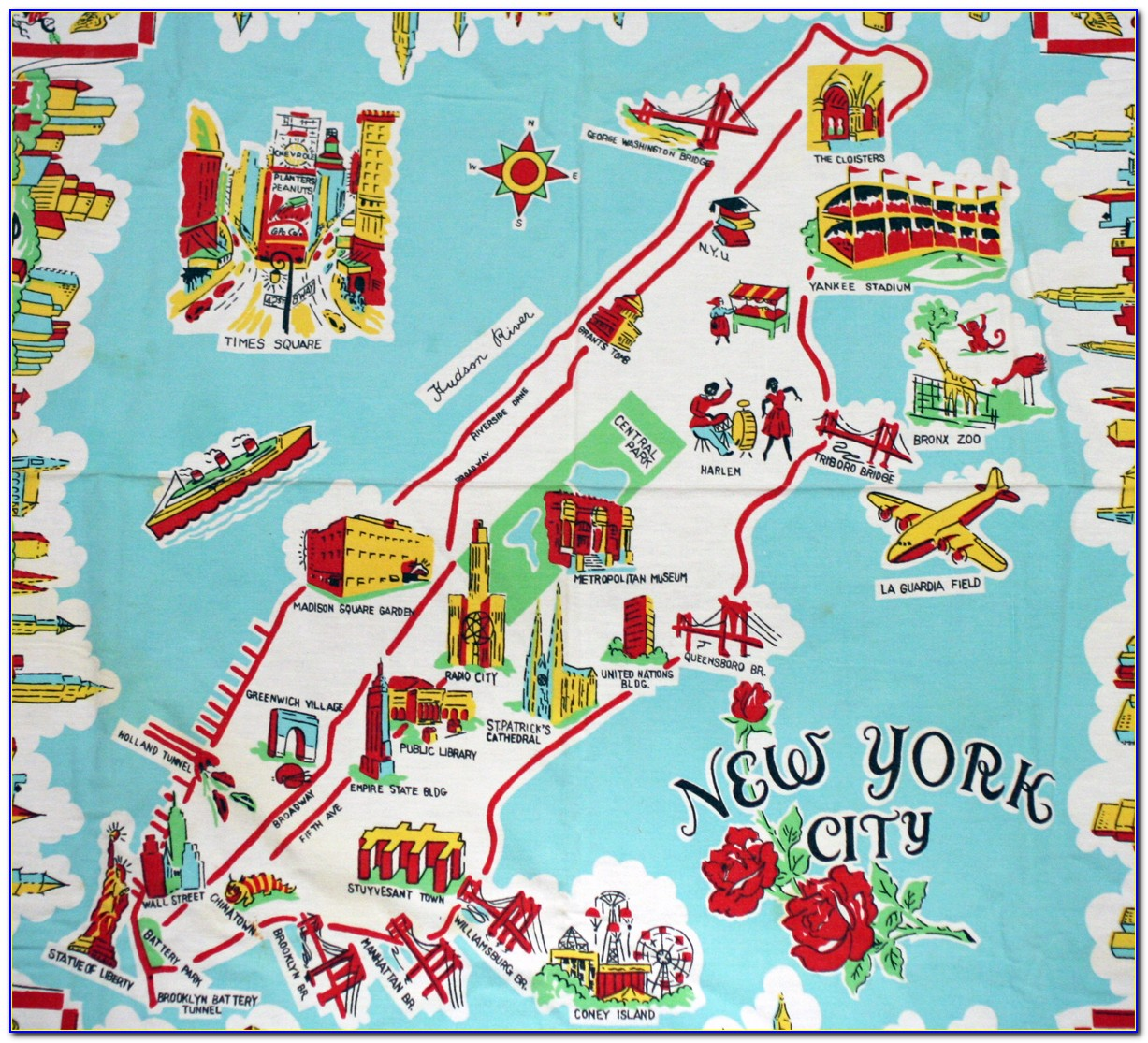 Map Of New York City Top Attractions