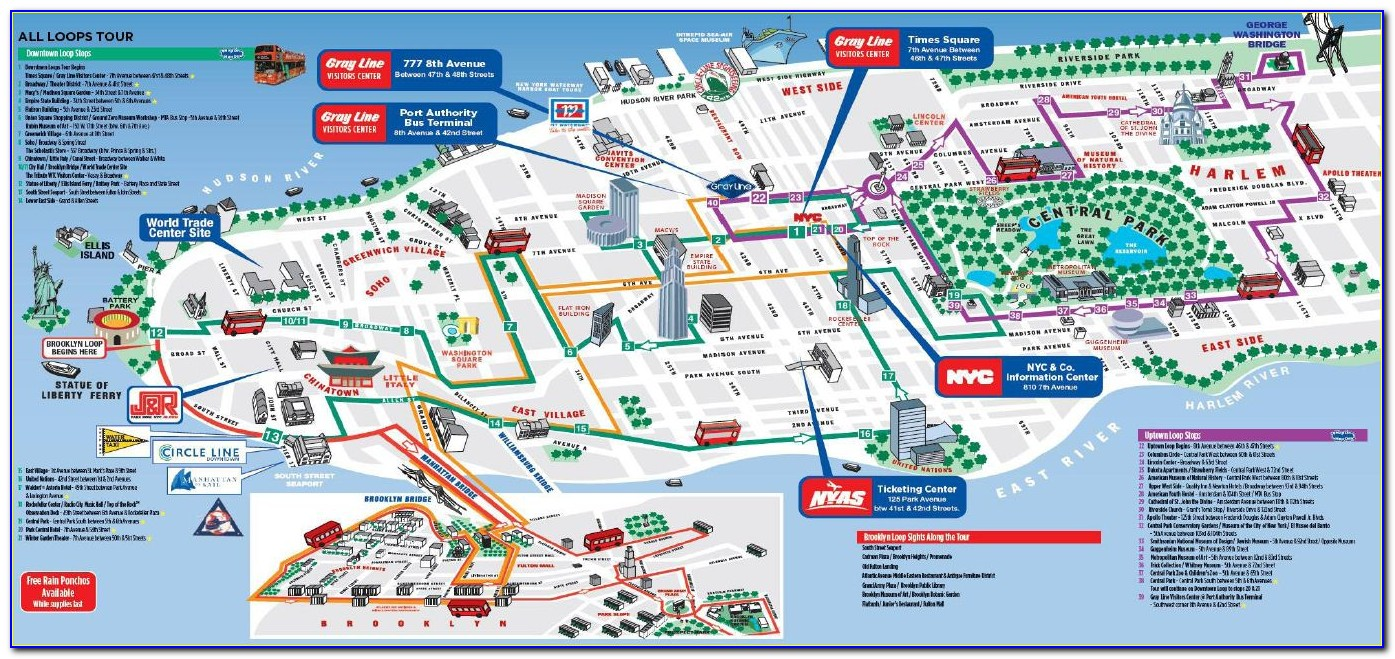 Map Of New York Tourist Attractions