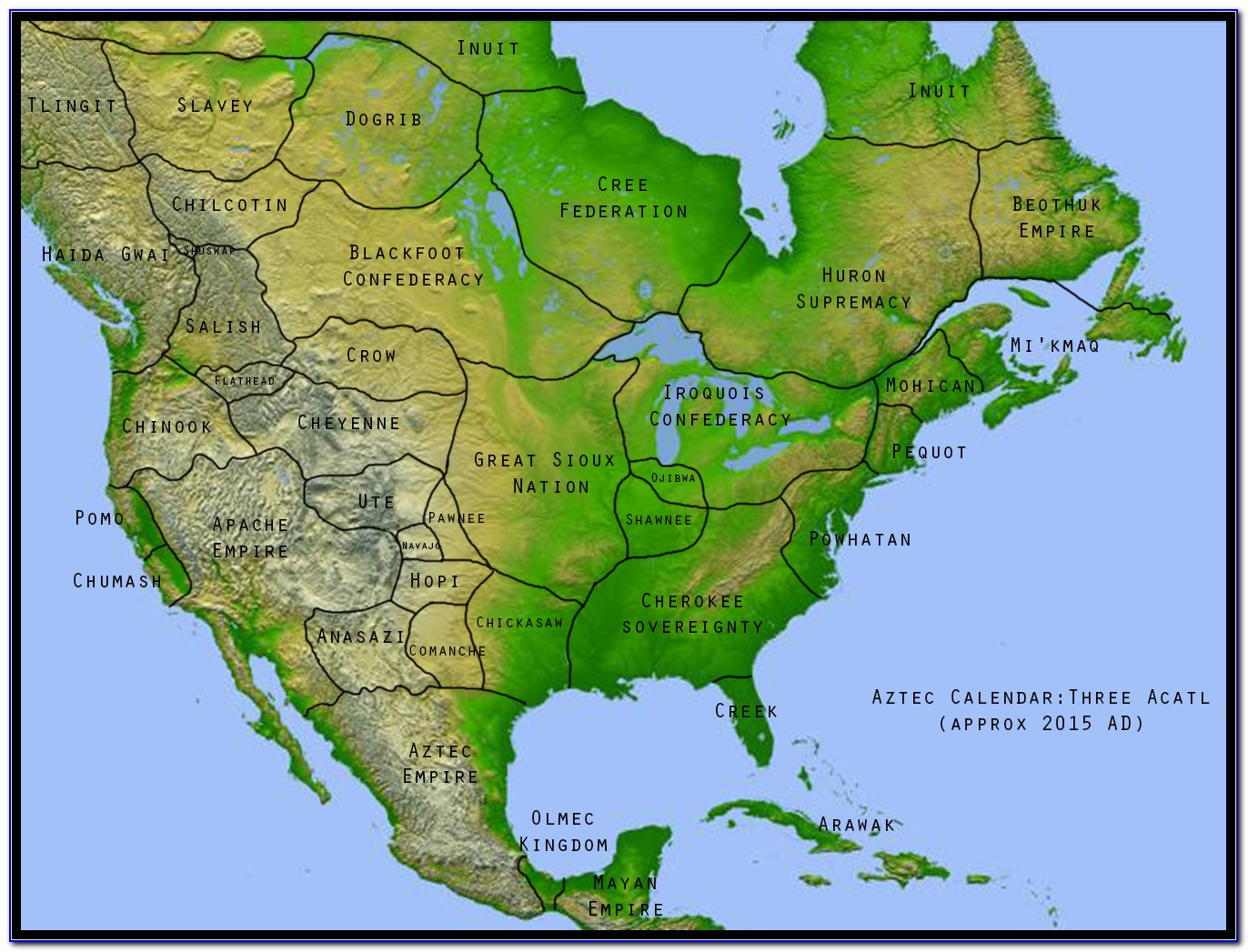 Map Of North American Native Tribes