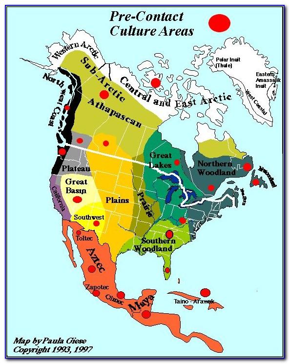 Map Of North Carolina Native American Tribes