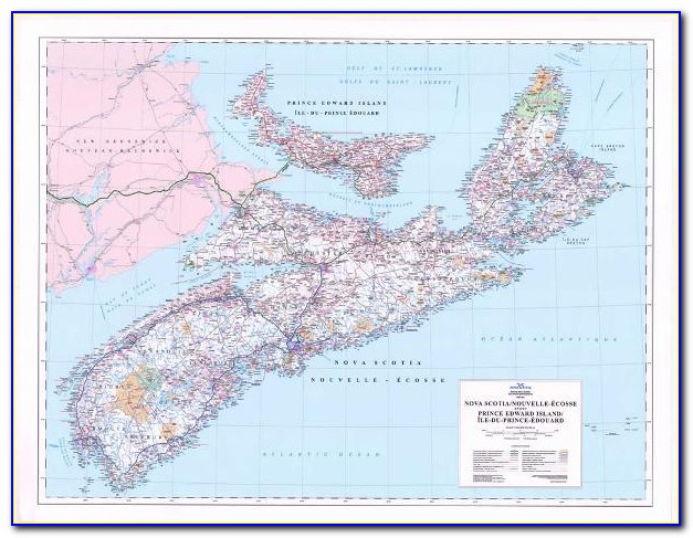 Map Of Nova Scotia Pei And Newfoundland