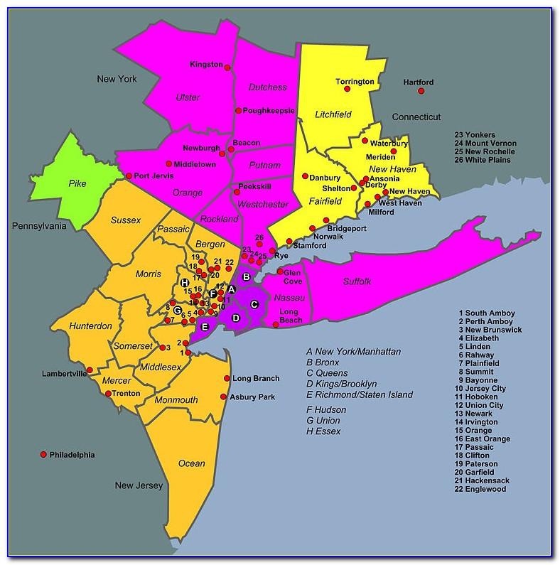 Map Of Nyc Metropolitan Area
