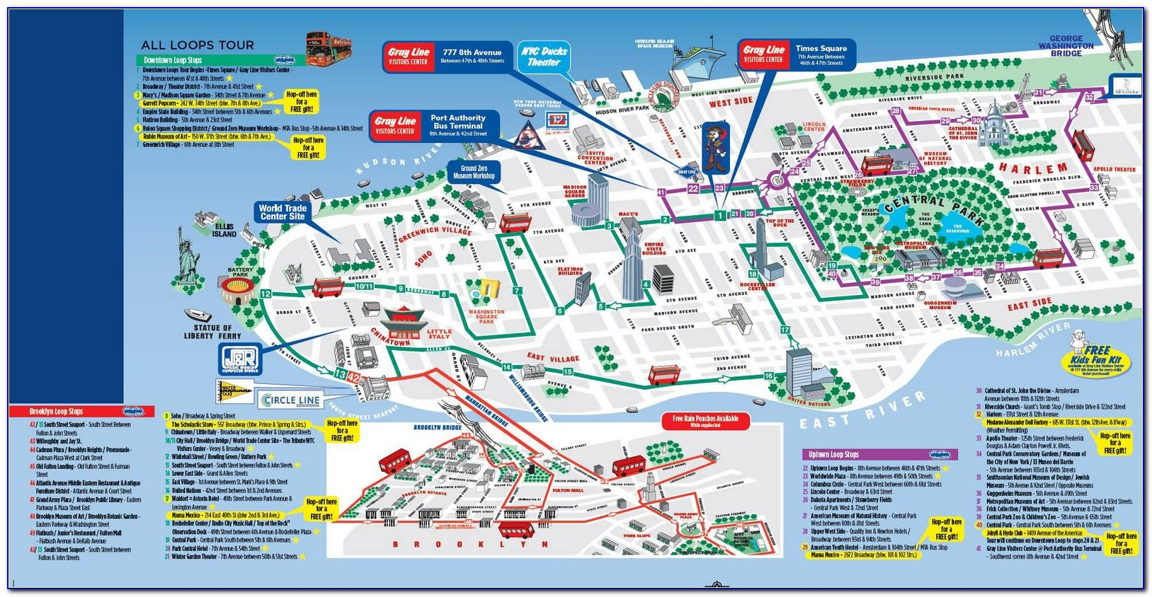 Map Of Nyc With Tourist Attractions