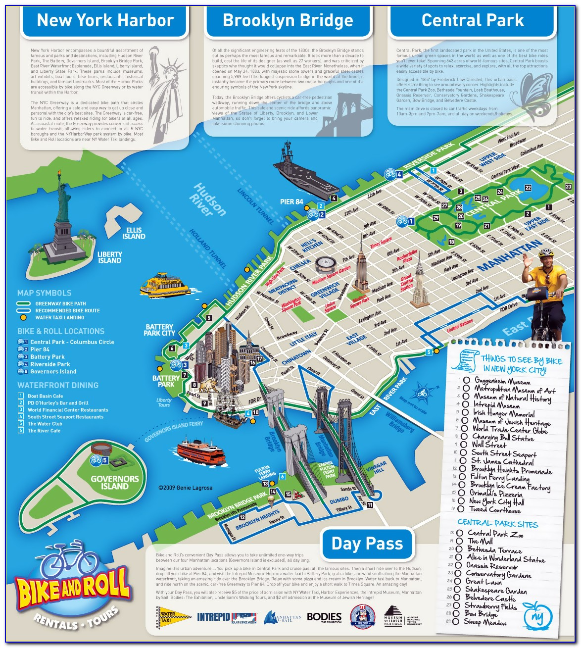 Map Of Nyc With Tourist Sites