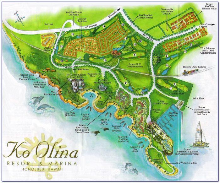 Map Of Oahu Hotels Hawaii