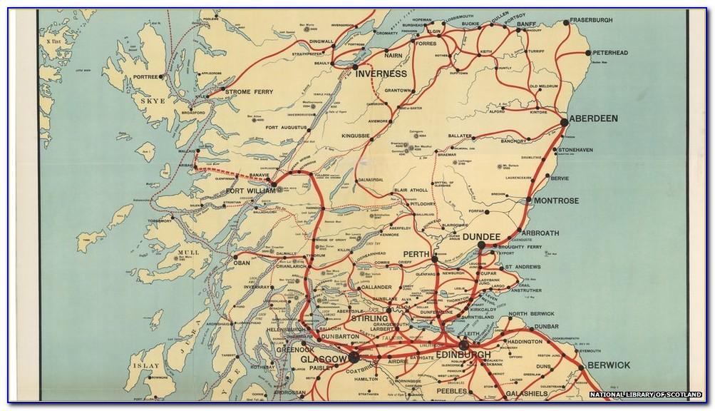 Map Of Old Scottish Railways
