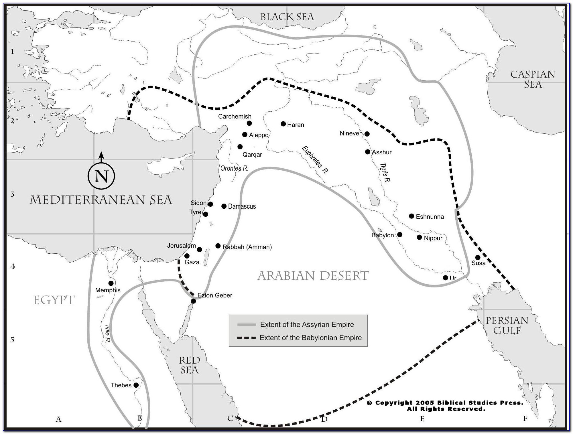 Map Of Old Testament Edom