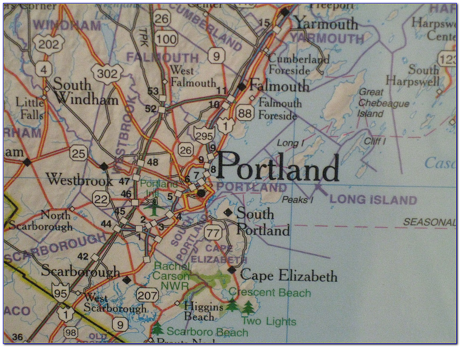Map Of Portland Maine Airport