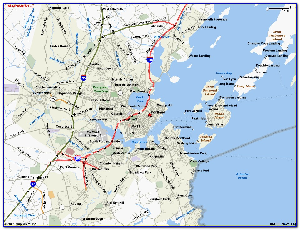 Map Of Portland Maine And Surrounding Areas