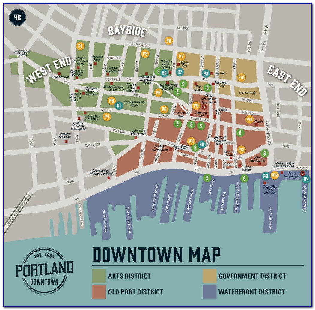 Map Of Portland Maine And Surrounding Towns