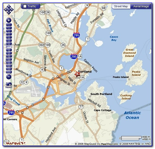Map Of Portland Maine Lighthouses