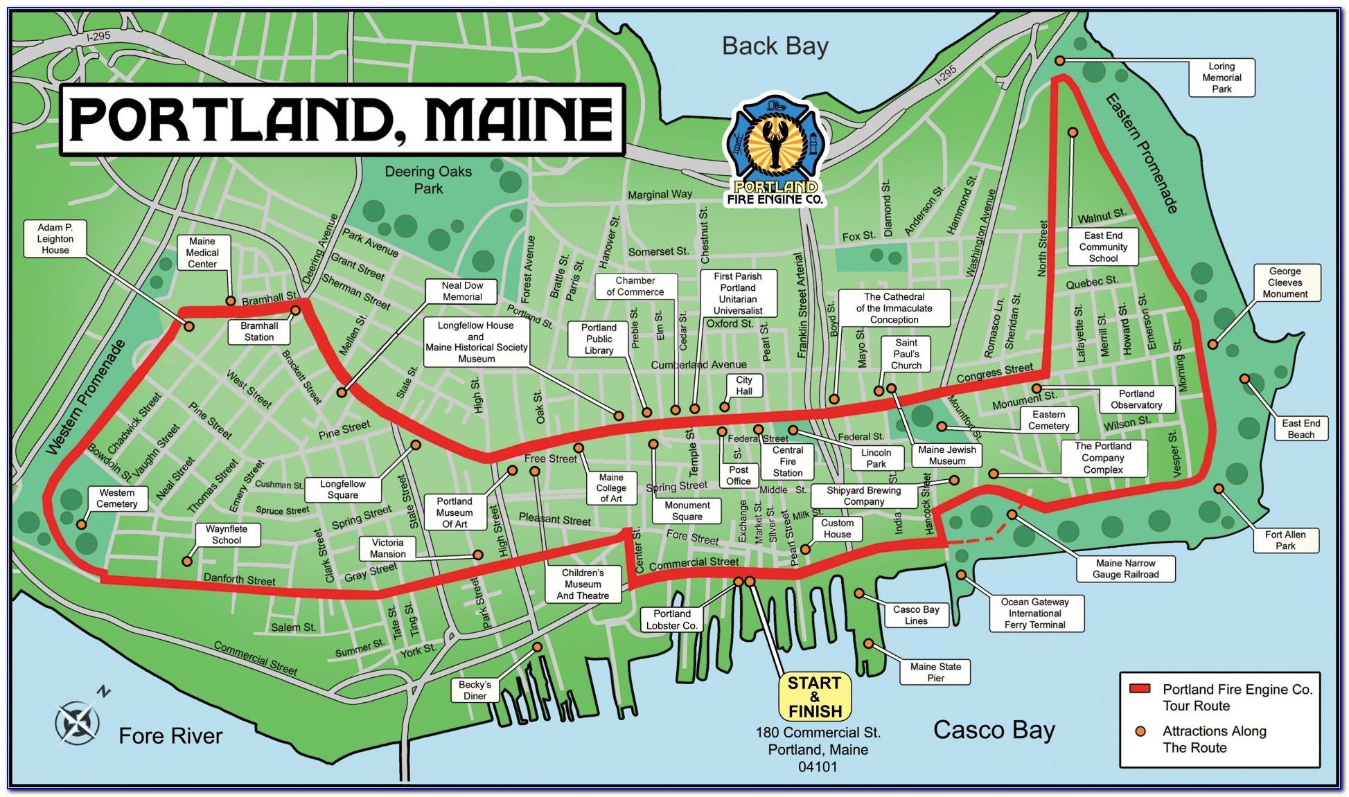 Map Of Portland Maine Neighborhoods