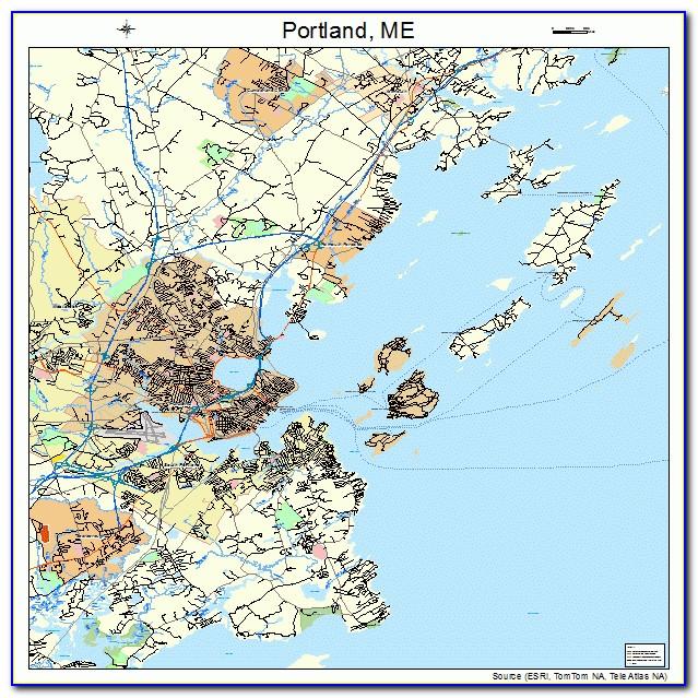 Map Of Portland Maine Restaurants