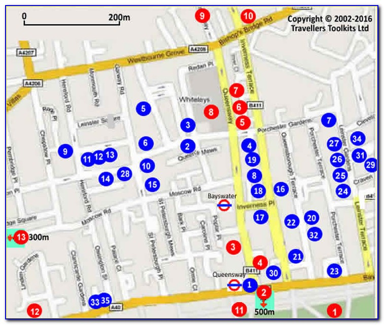 Map Of Premier Inn Locations In London