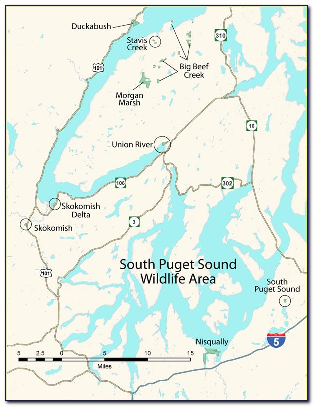 Map Of Puget Sound Marine Areas