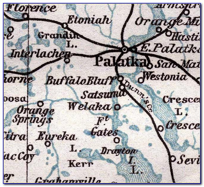 Map Of Putnam County Fl