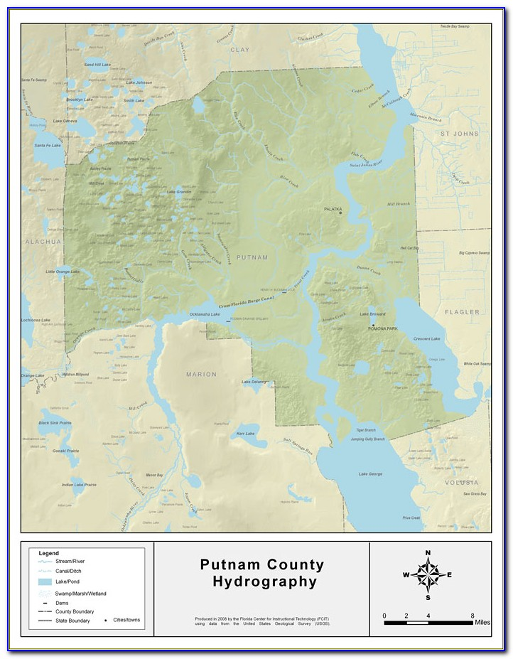 Map Of Putnam County Indiana