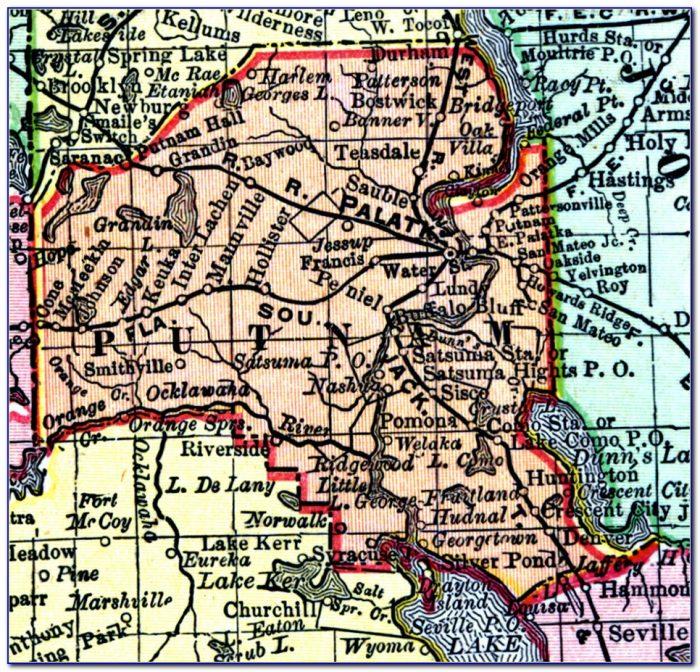 Map Of Putnam County Tn