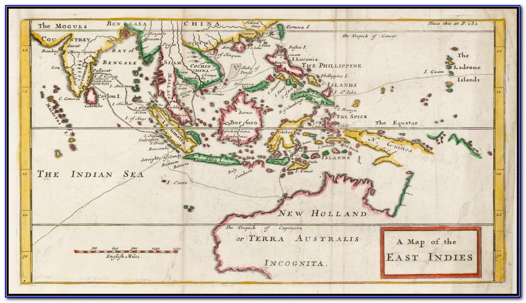 Map Of Spanish East Indies