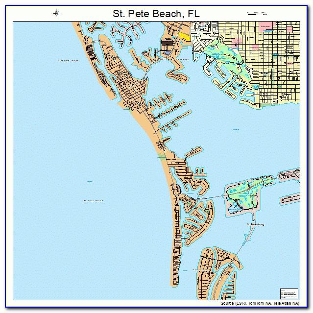 Map Of St Pete Beach Florida