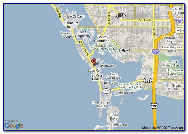 Map Of St Petersburg Beach Florida