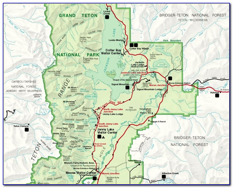 Map Of Tetons Area