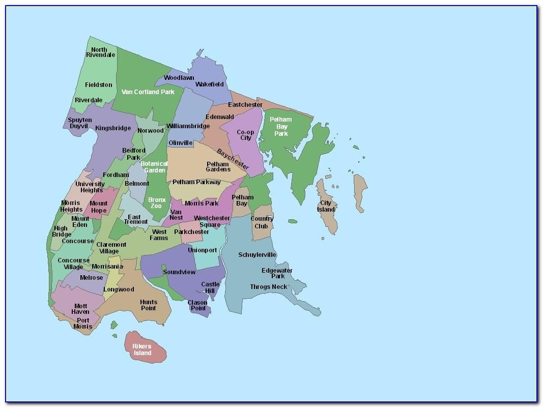 Map Of The Bronx Neighborhoods