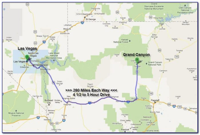 Map Of The Grand Canyon And Surrounding Area