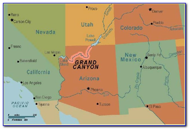 Map Of The Grand Canyon Village