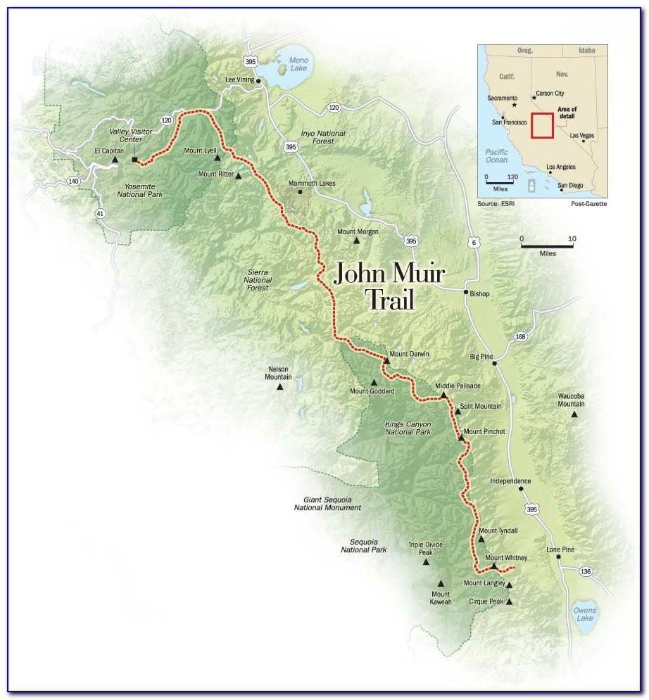 Map Of The John Muir Trail