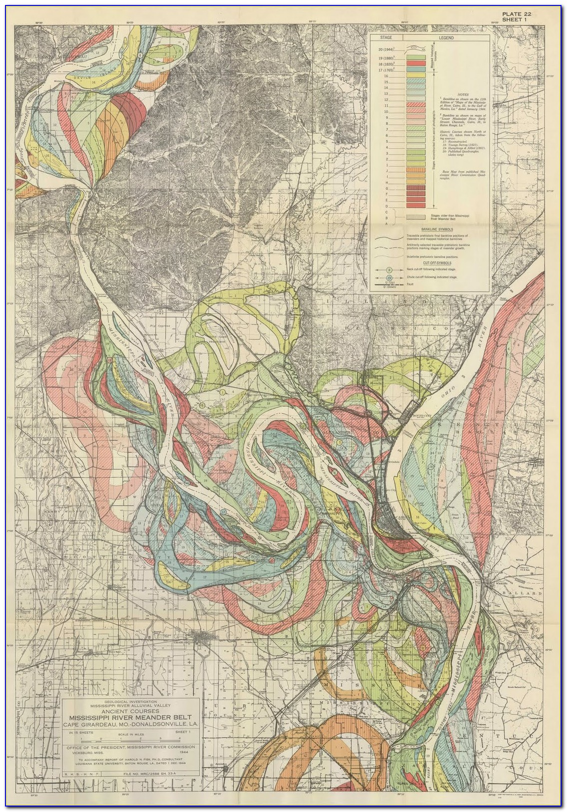 Map Of The Mississippi River System