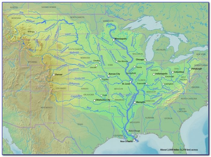 Map Of The Mississippi River With States